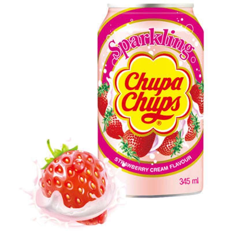 Soda cream fraise, Chupa Chups (34,5 cl)