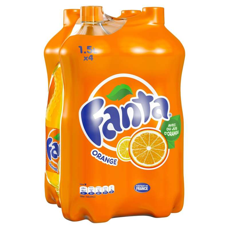 Pack de Fanta Orange (4 x 1,5 l)