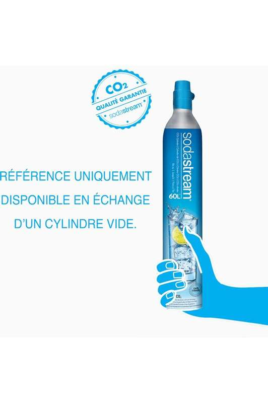 Sodastream Recharge CO² - produit consigné, 20€ recrédité au retour du cylindre