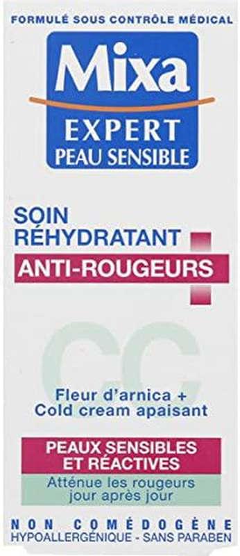 Soin réhydratant anti-rougeurs pour peaux sensibles, Mixa (50 ml)