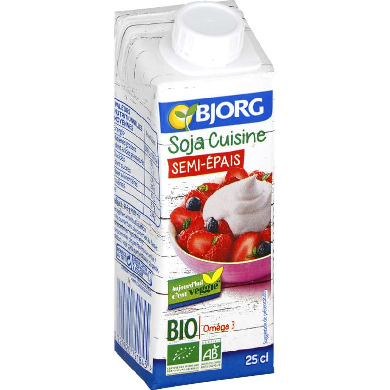 Soja cuisine semi épais BIO, Bjorg (25 cl)