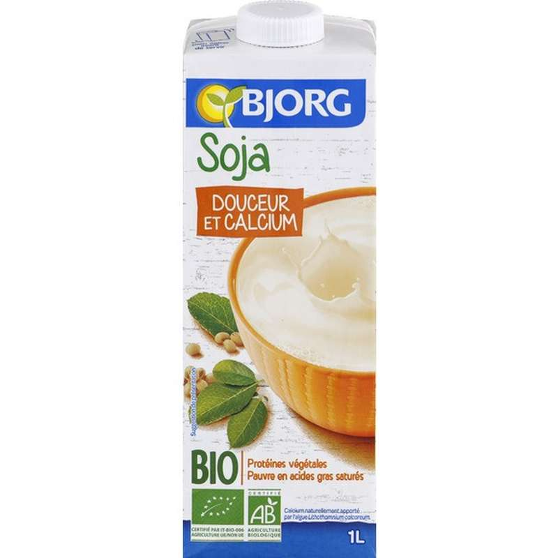 Soja douceur et calcium BIO, Bjorg (1 L)
