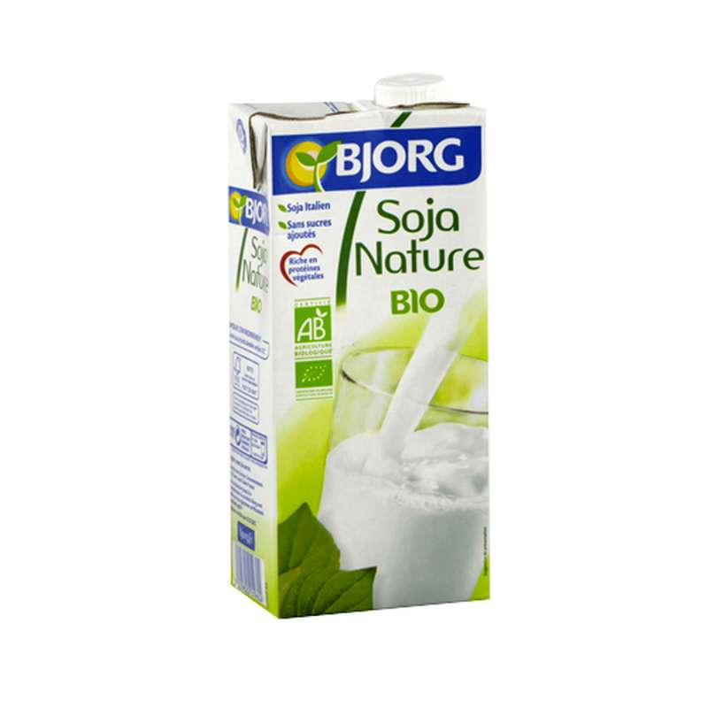 Lait de soja nature BIO, Bjorg (1 L)