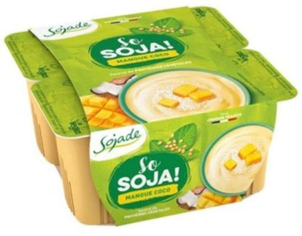 Sojade mangue coco BIO So Soja, Sojade (4 x 100 g)