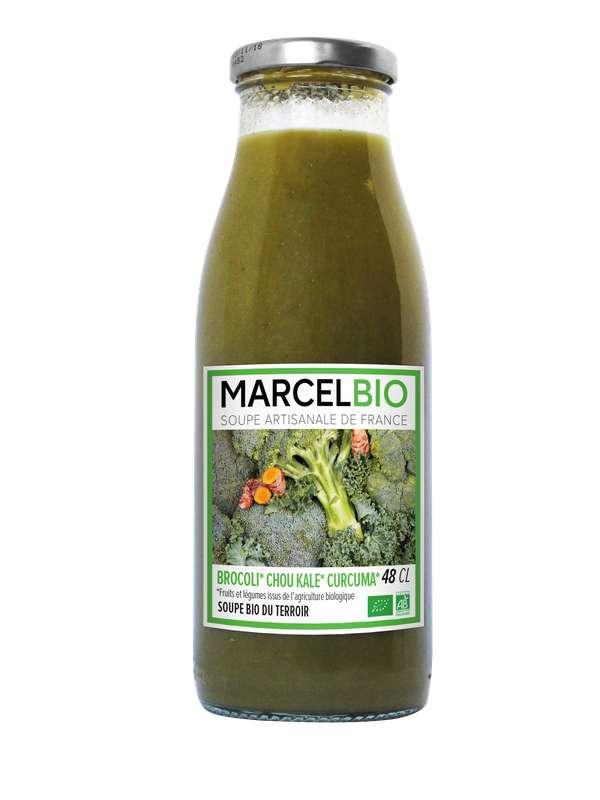 Soupe Brocoli, Chou Kale et Curcuma BIO, Marcel BIO (48 cl)