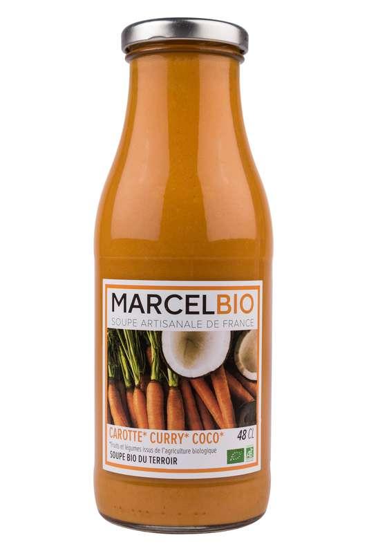 Soupe Carotte, Curry et Coco BIO, Marcel BIO (48 cl)