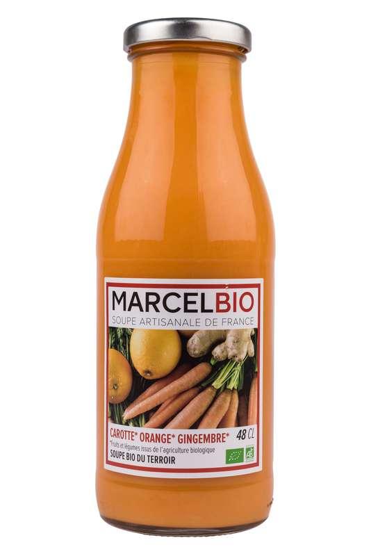 Soupe Carotte, Orange et Gingembre BIO, Marcel BIO (48 cl)