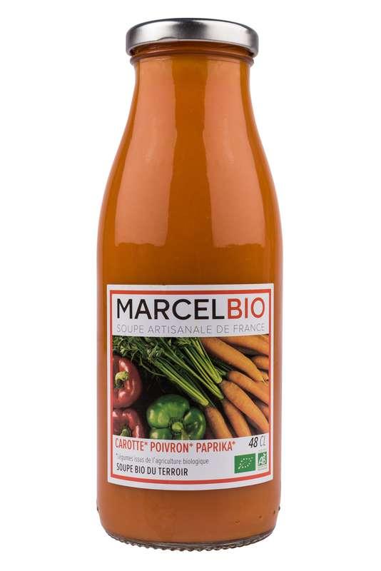 Soupe Carotte, Poivron et Paprika BIO, Marcel BIO (48 cl)