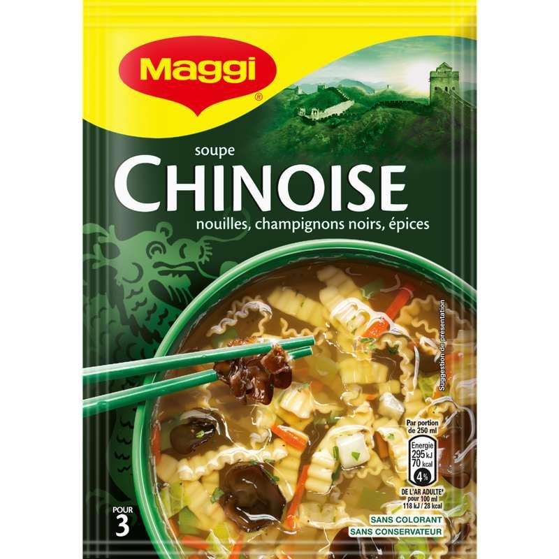 Soupe chinoise aux champignons noirs déshydratée, Maggi (60 g)