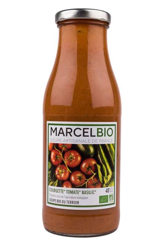 Soupe Courgettes, Tomates et Basilic BIO, Marcel BIO (48 cl)