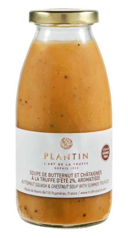 Soupe de butternut et châtaignes à la truffe d'été 2% aromatisée, Plantin (25 cl)