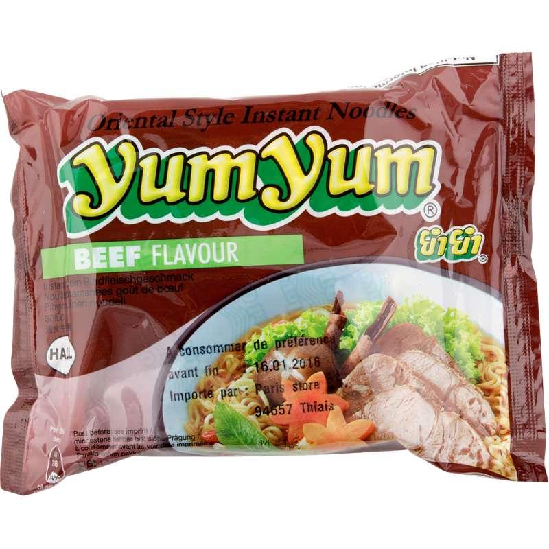 Soupe de nouilles arôme boeuf, Yum Yum (60 g)