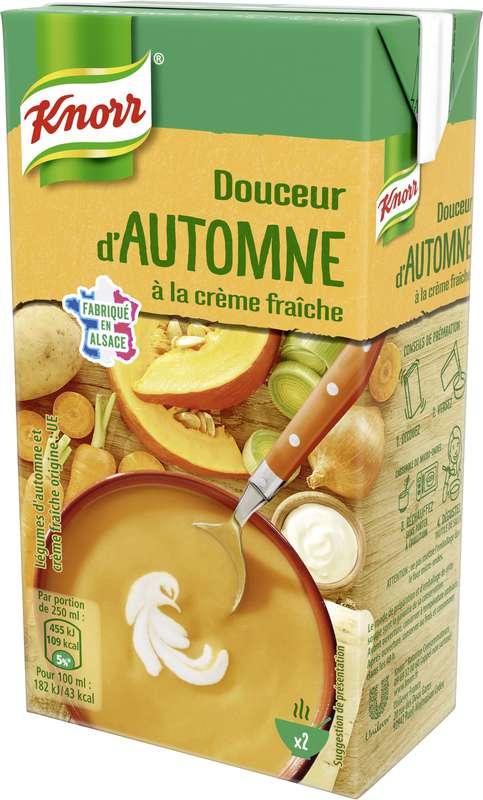 Soupe douceur d'automne à la crème fraîche, Knorr (50 cl)