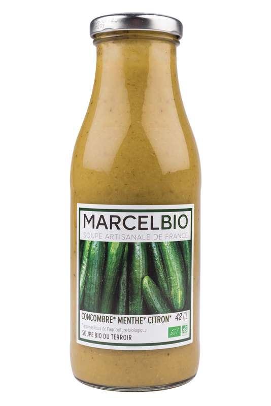 Soupe froide Concombre, Menthe et Citron BIO, Marcel BIO (48 cl)