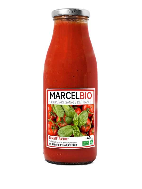 Soupe froide Tomate, Basilic BIO, Marcel BIO (48 cl)