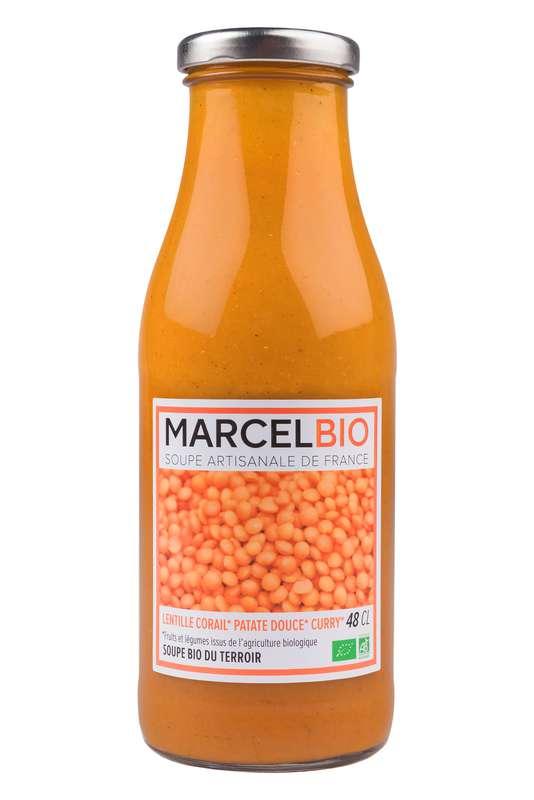 Soupe Lentilles Corail, Patate Douce et Curry BIO, Marcel BIO (48 cl)