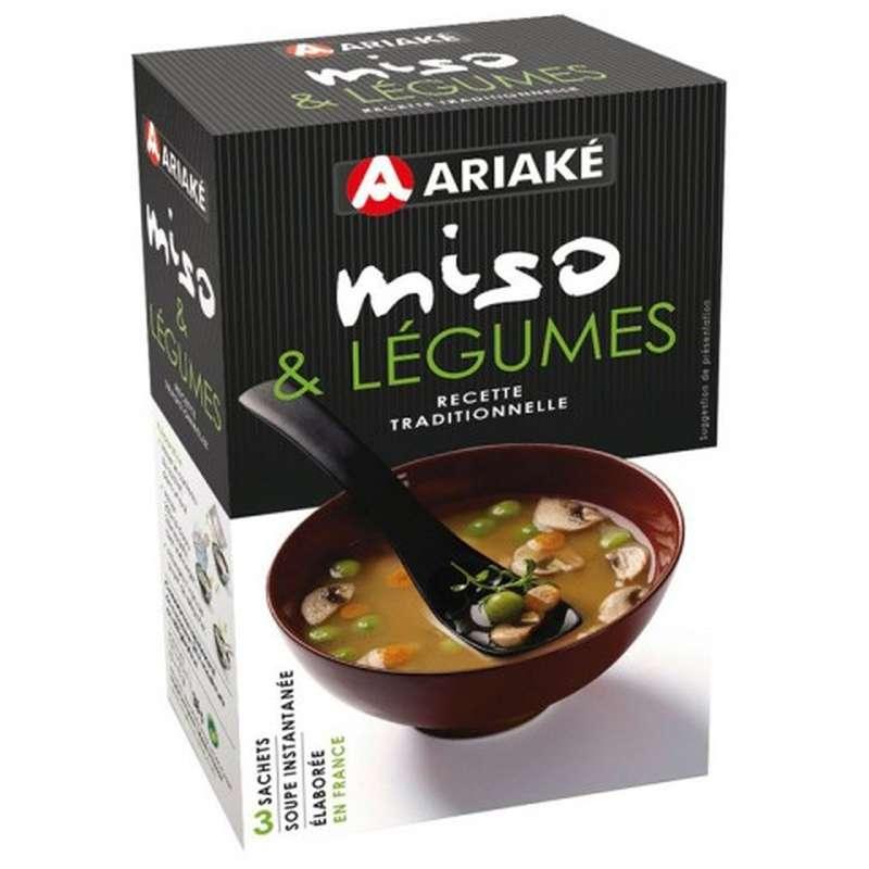 Soupe Miso Légumes, Ariake (x 3, 36 g)