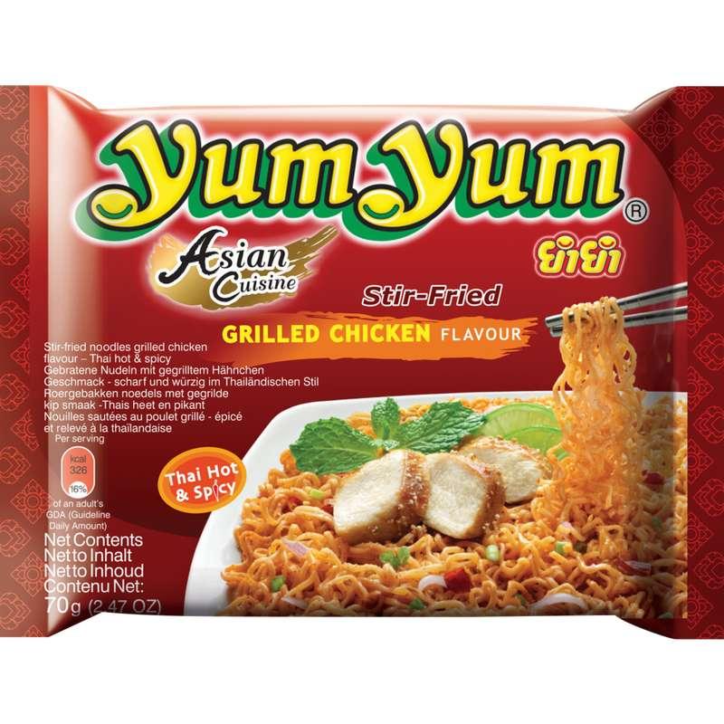 Soupe de nouilles poulet grillé, Yum Yum (70 g)