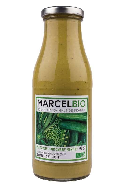 Soupe Petit Pois, Concombre et Menthe BIO, Marcel BIO (48 cl)