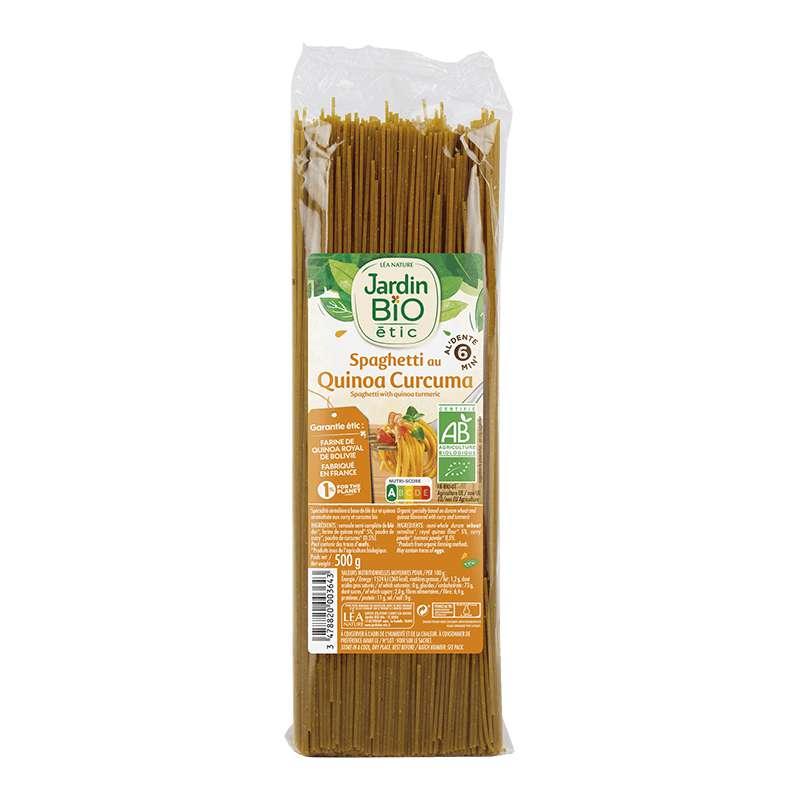 Spaghetti au quinoa, curry & curcuma BIO, Jardin Bio étic (500 g)