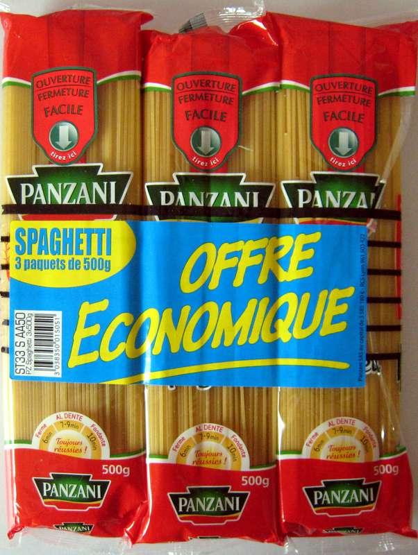 Spaghetti, Panzani LOT DE 3 + 20% offert (3 x 500 g + 300 g offerts)