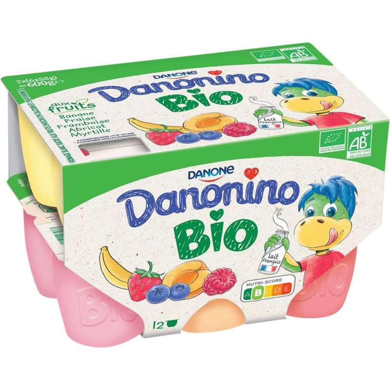 Danonino aux fruits BIO, Danone (12 x 50 g)