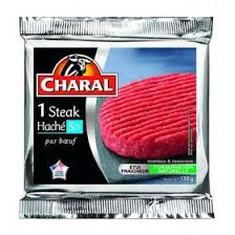 Steak haché 5% MG, Charal (1 x 130 g)