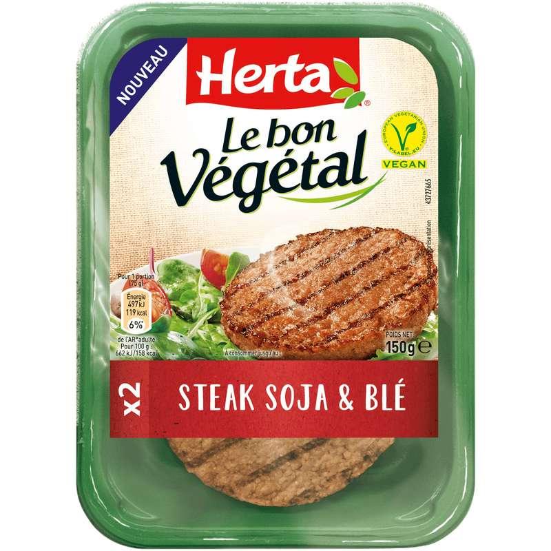 Steak de soja et de blé Le Bon Végétal, Herta (x 2, 150 g)