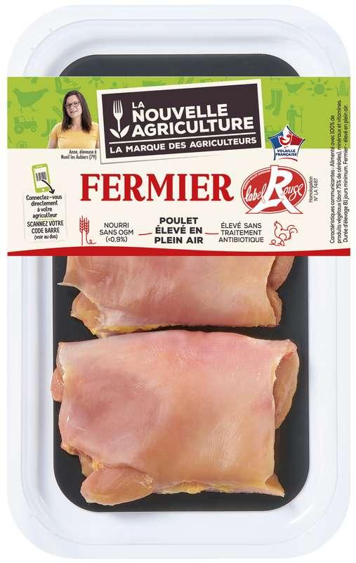 Steaks de poulet fermier Label rouge, La Nouvelle Agriculture (x 2, 200 g)
