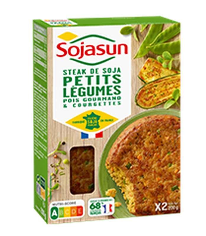 Steak de soja légumes du jardin, Sojasun (x 2, 200 g)