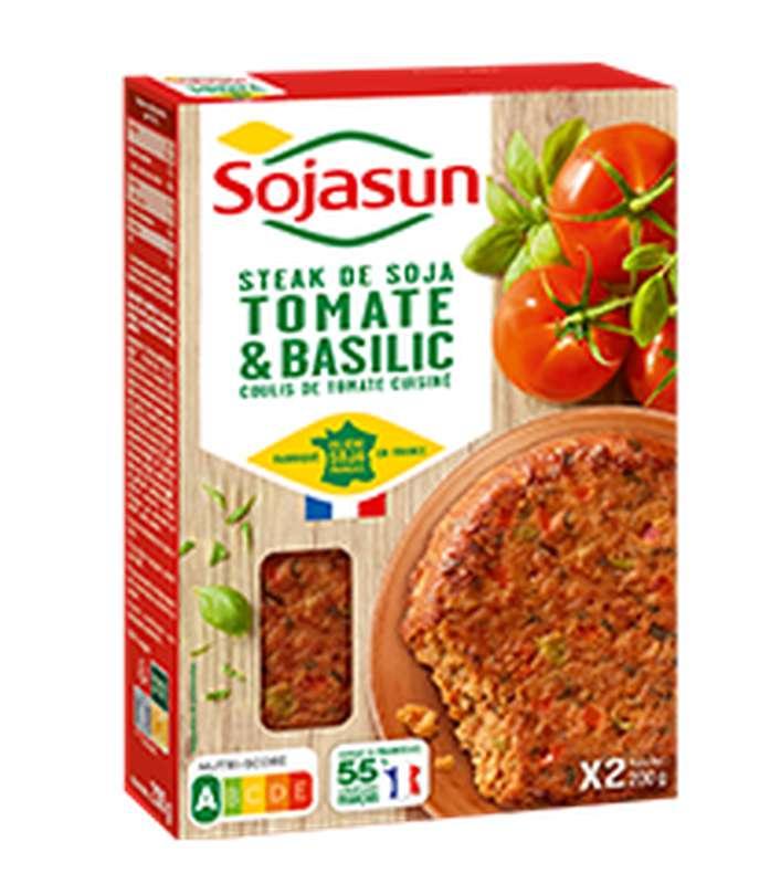 Steak de soja tomate basilic, Sojasun (x 2, 200 g)