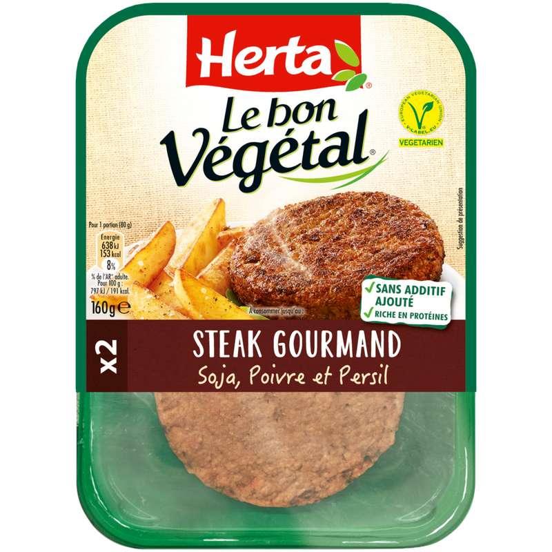 Steak gourmand Le Bon Végétal, Herta (x 2, 160 g)