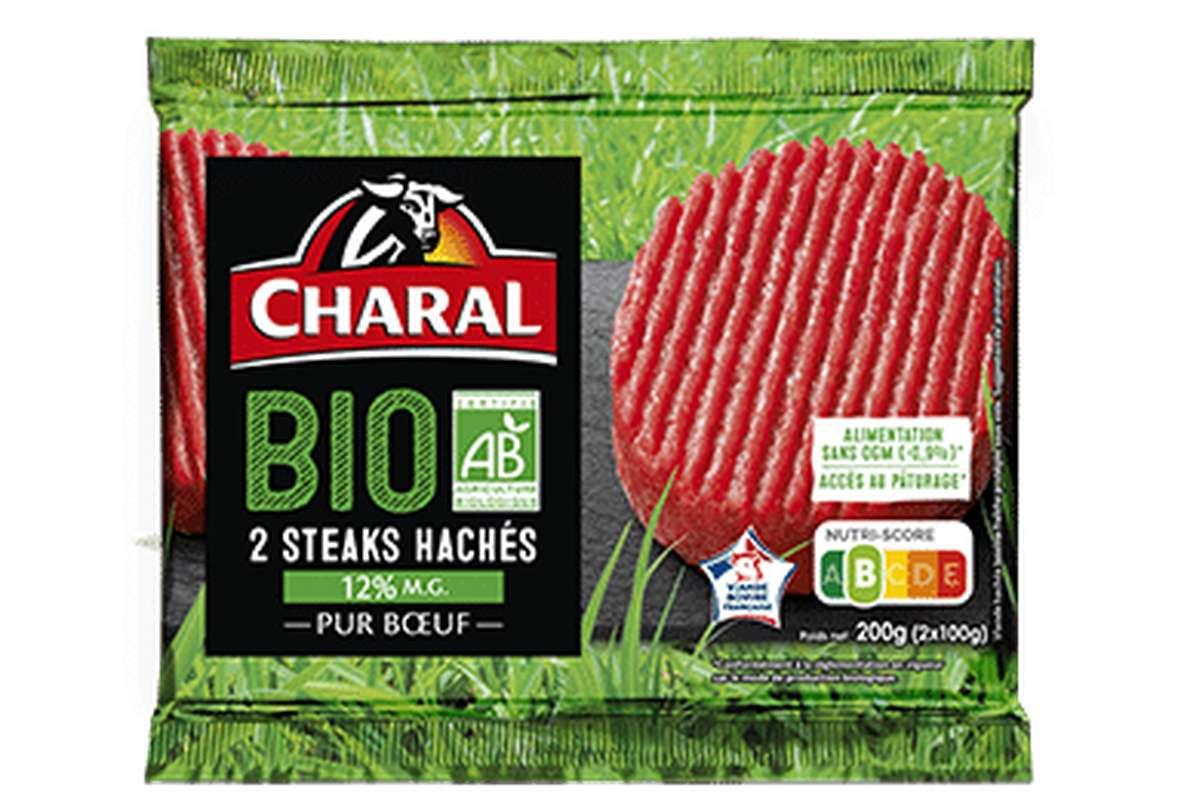 Steak haché 12% MG BIO, Charal (2 x 100 g)