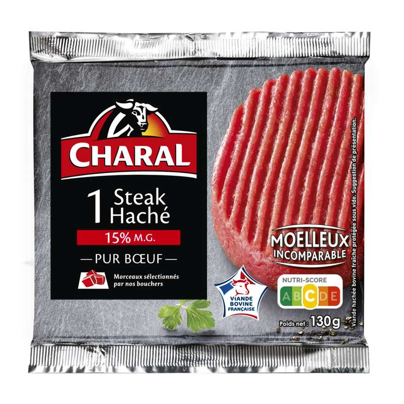 Steak haché 15% MG, Charal (x 1, 130 g)