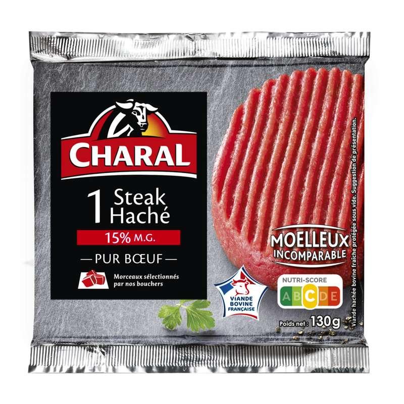 Steak haché 15% MG, Charal (x 1, 130 g)