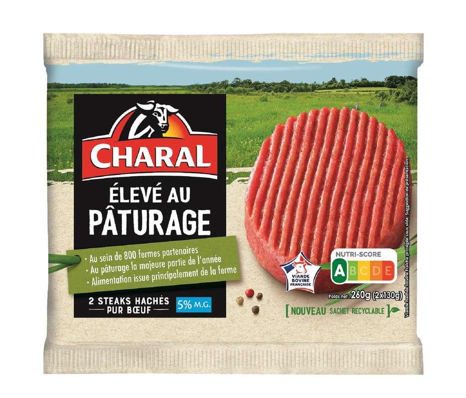 Steak haché 5% élevé au pâturage, Charal (x 2, 260 g)