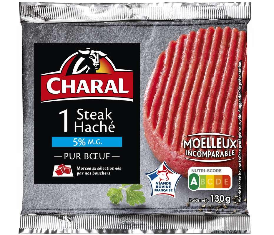 Steak haché 5% MG, Charal (x1, 130 g)