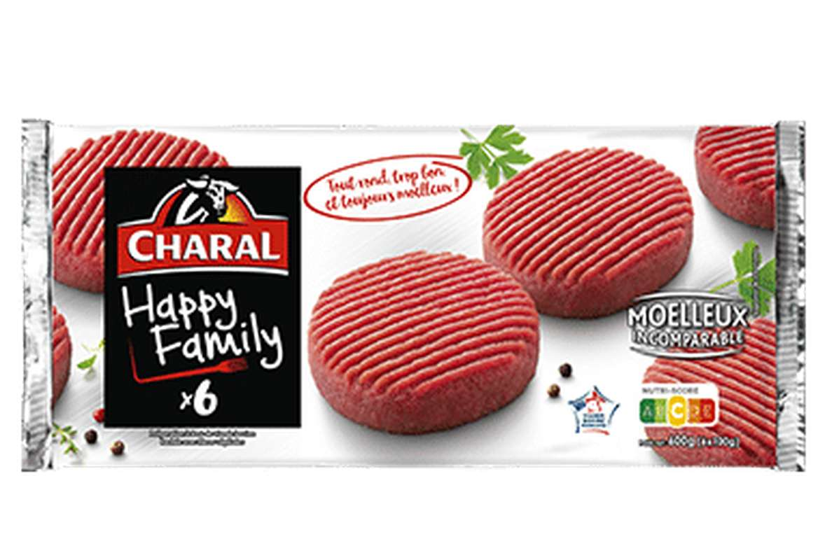 Steak haché Happy Family 15% MG, Charal (x 6, 600 g)