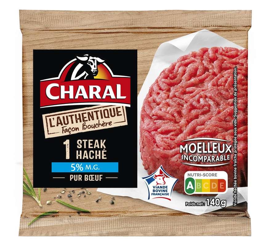 Steak haché L'authentique 5% MG, Charal (140 g)