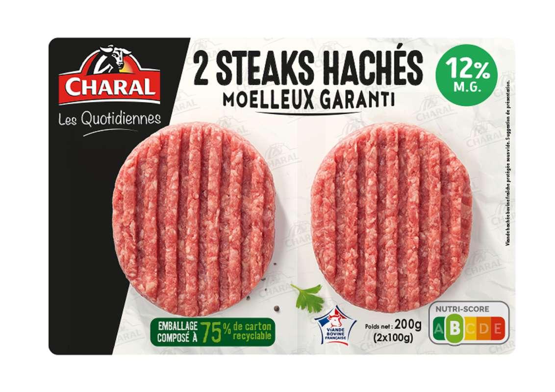Steak haché Les quotidiennes 12%, Charal (x 2, 200 g)
