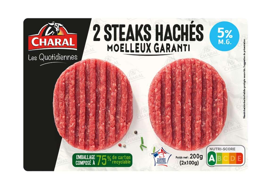Steak haché Les quotidiennes 5%, Charal (x 2, 200 g)