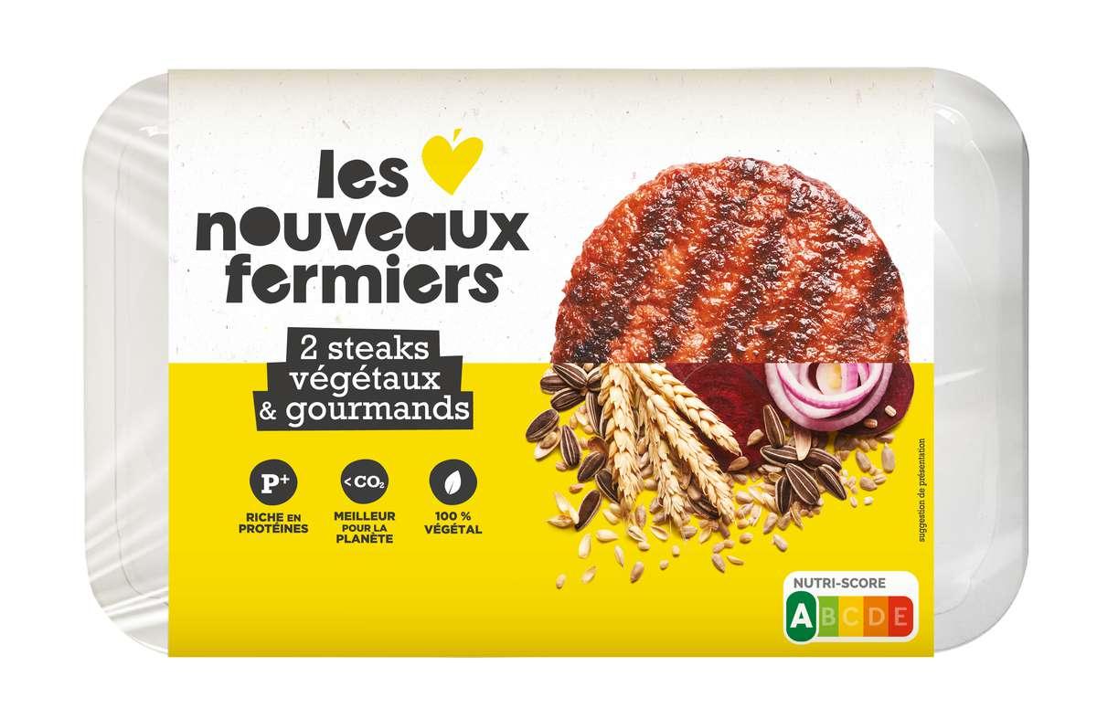 Steaks végétaux et gourmands, Les Nouveaux Fermiers (2 x 113 g)