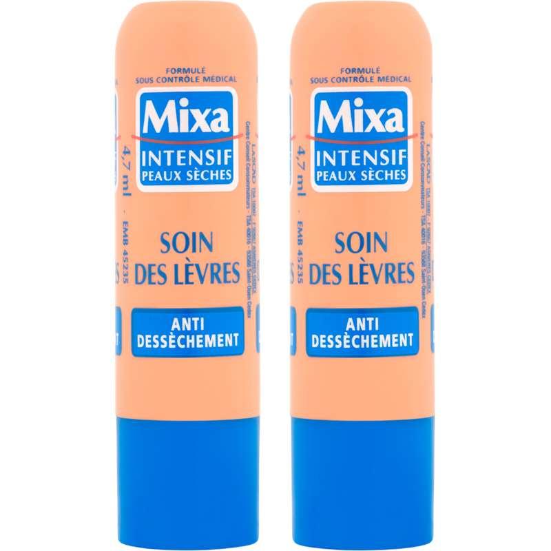 Stick à lèvres soin anti-dessèchement, Mixa (x 2).