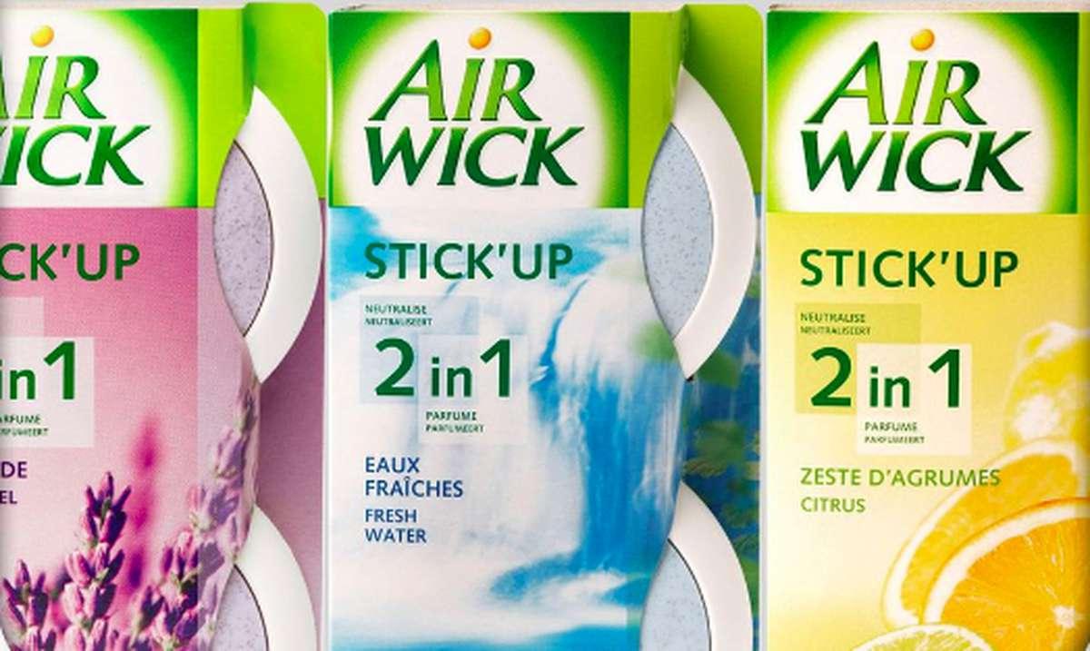 Stick Up 2 en 1 zest d'agrumes, eaux fraiches ou lavande, Air Wick (1 boite parfum aléatoire x 2)