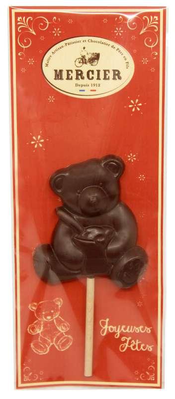 Sucette Ourson chocolat noir, Chocolaterie Mercier (x 1, 20 g)
