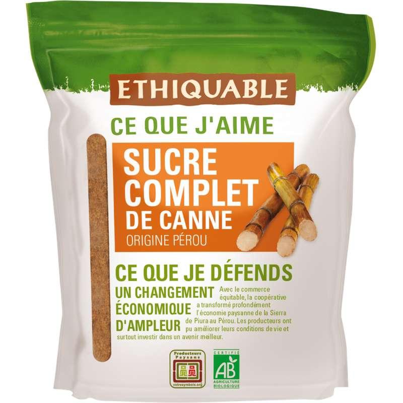 Sucre de canne complet en poudre Pérou BIO, Ethiquable (500 g)