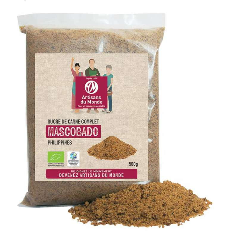 Sucre Mascobado BIO, Artisans du monde (500 g)