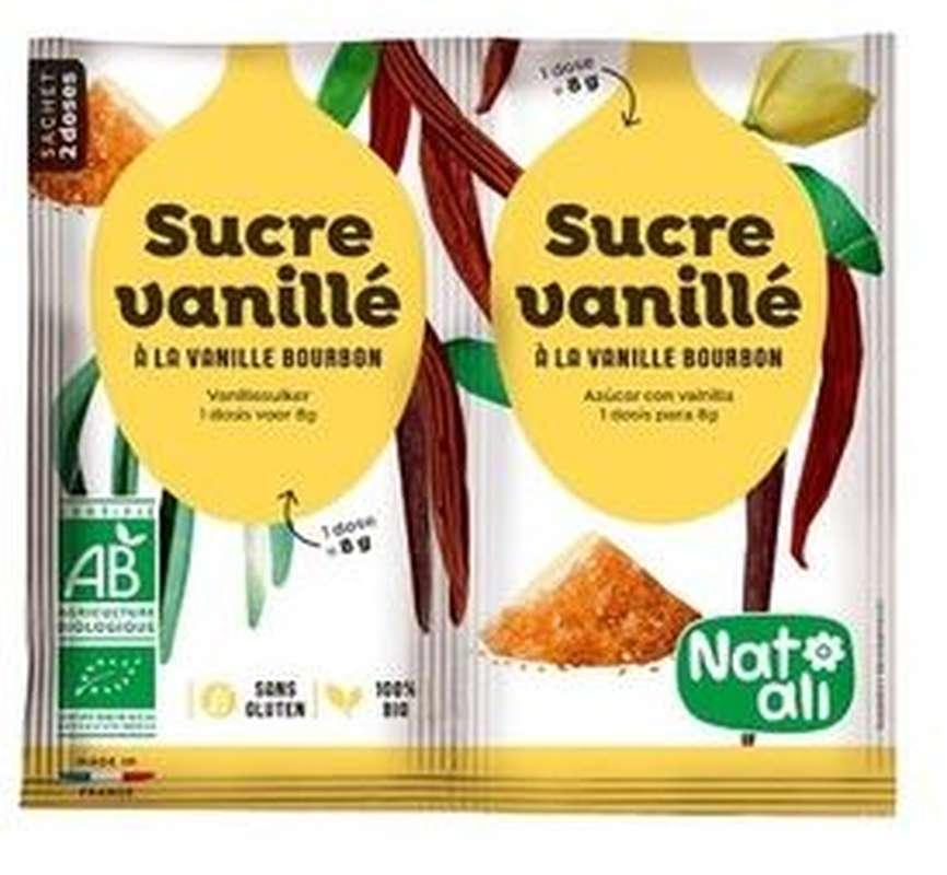 Sucre vanillé BIO en sachet, Natali (x 2 sachets, 16 g)