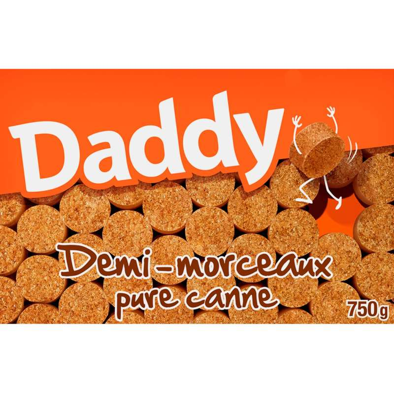 Sucres demi rond pure canne, Daddy (750 g)