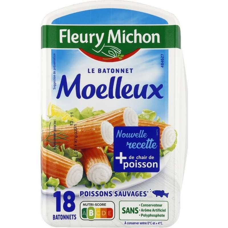 Bâtonnets de surimi Le moelleux, Fleury Michon (x 18, 288 g)